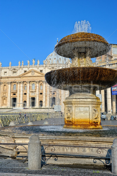 Fountain at the St Peters square, Vatican city. Stock photo © Pilgrimego