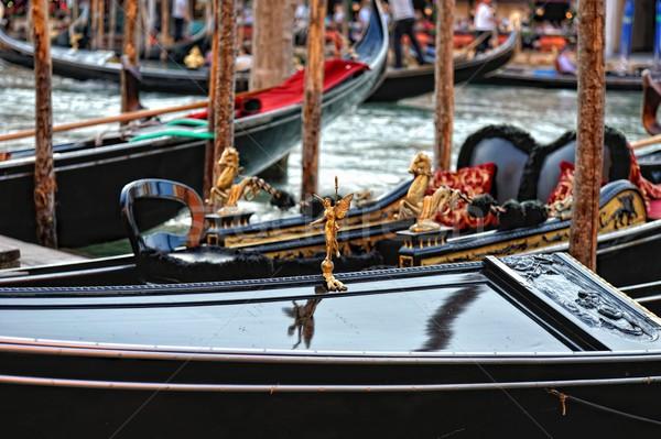 Venetian gondolas at the berth. Stock photo © Pilgrimego