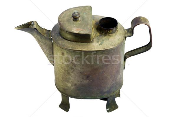 Antique iron pot. with white background. Stock photo © Pilgrimego