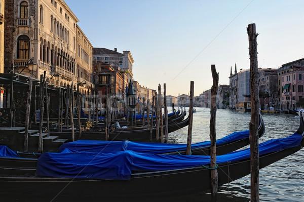 Görmek tekneler Venedik nehir mimari Stok fotoğraf © Pilgrimego