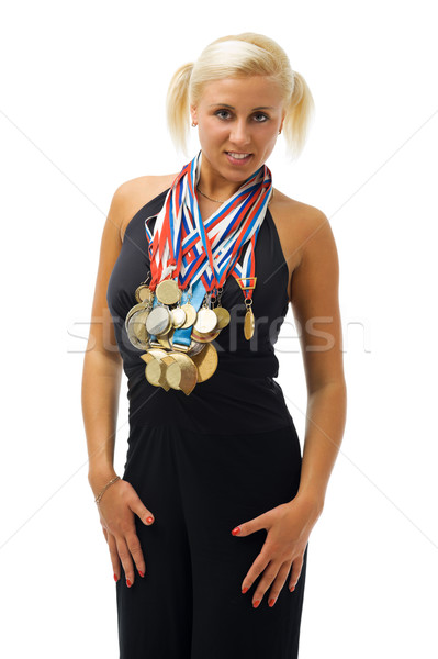 awarded athlete with their medals. Stock photo © Pilgrimego