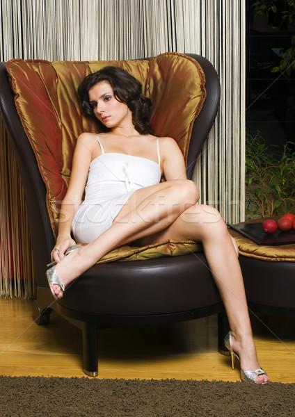 woman in the luxurios interior Stock photo © Pilgrimego