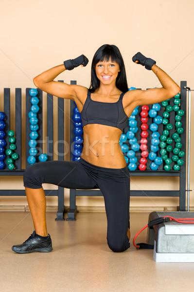 Stok fotoğraf: Güzel · bir · kadın · egzersiz · spor · kulüp · kız · sağlık