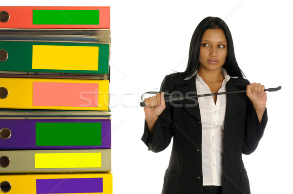 woman with switch near the pile of documents Stock photo © Pilgrimego