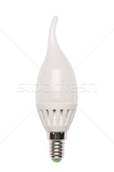 Energie besparing lamp diode geïsoleerd object Stockfoto © Pilgrimego