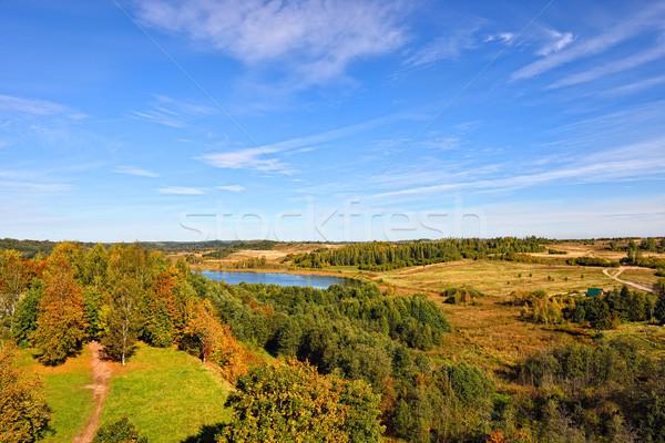 秋 風景 丘 地域 空 ストックフォト © Pilgrimego