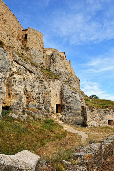 Old ruined castle in  Morella town, Spain. Stock photo © Pilgrimego