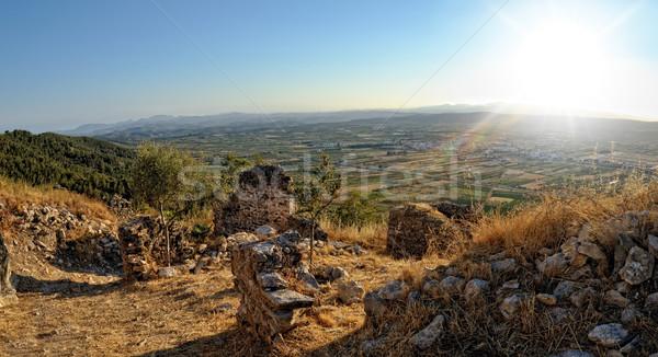 先頭 表示 古い 城 山 空 ストックフォト © Pilgrimego