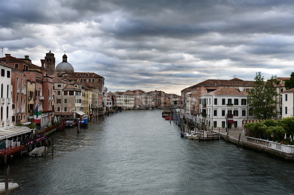 Venetian landscape. View of Canal Grande Stock photo © Pilgrimego