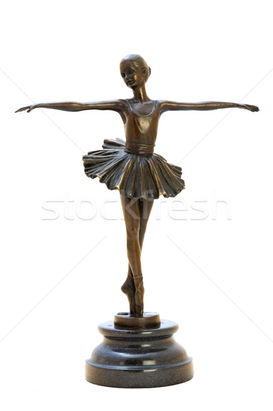 Stock photo: Bronze antique figurine of the dancing ballerina.