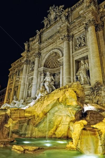 Night lighting of Trevi fountain in Rome, Stock photo © Pilgrimego