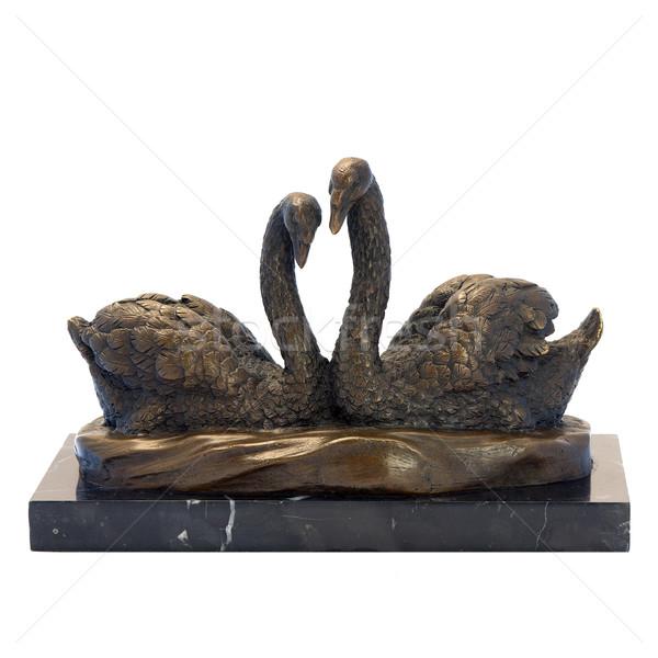 Antigo bronze estatueta dois casal estátua Foto stock © Pilgrimego