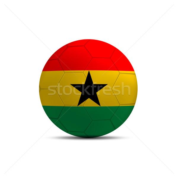 Гана флаг мяча изолированный белый спорт Сток-фото © pinkblue