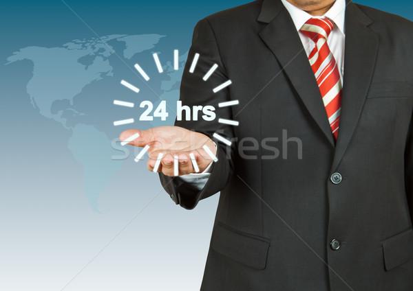 бизнесмен 24 час круга бизнеса часы Сток-фото © pinkblue