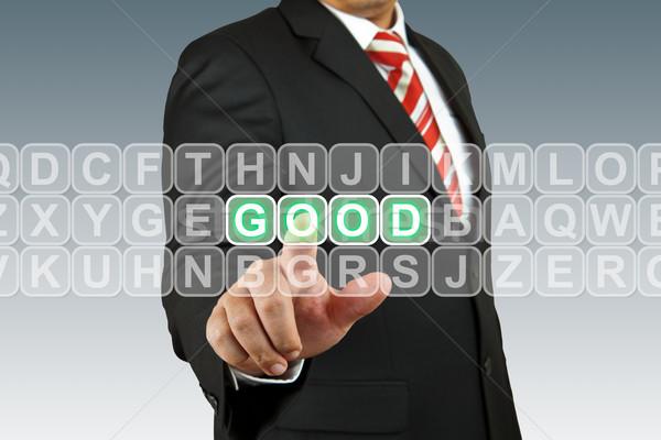 Businesssman push good Stock photo © pinkblue