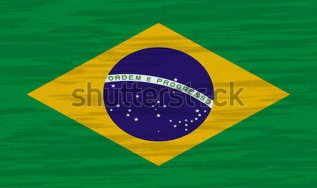 Brazil Flag cotton texture Stock photo © pinkblue