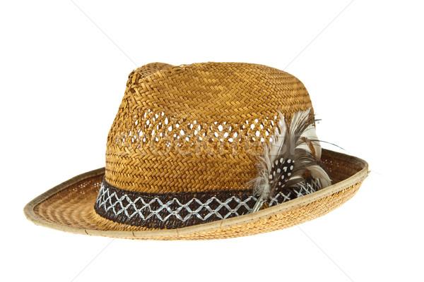 красивой традиционный Панама Hat Перу украшенный Сток-фото © pinkblue