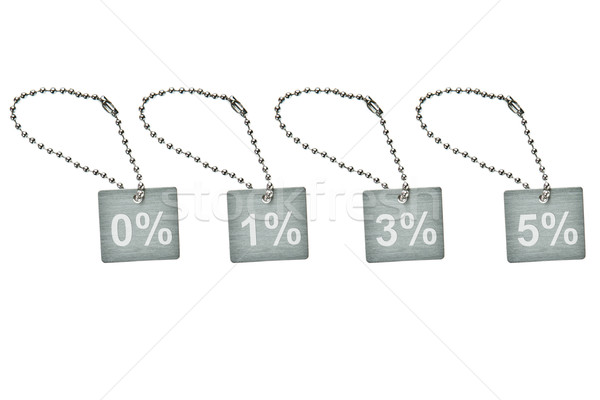 Silver metal discount tag Stock photo © pinkblue