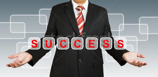 üzletember szöveg siker üzlet technológia hálózat Stock fotó © pinkblue