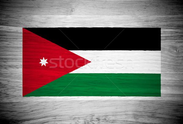 Foto stock: Jordânia · bandeira · textura · de · madeira · parede · natureza · quadro