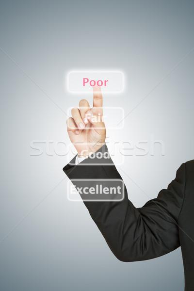 Сток-фото: бизнесмен · бедные · кнопки · бизнеса · счастливым