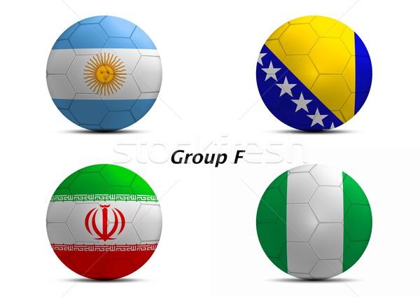 Csoport Argentína Irán Nigéria végső futball Stock fotó © pinkblue