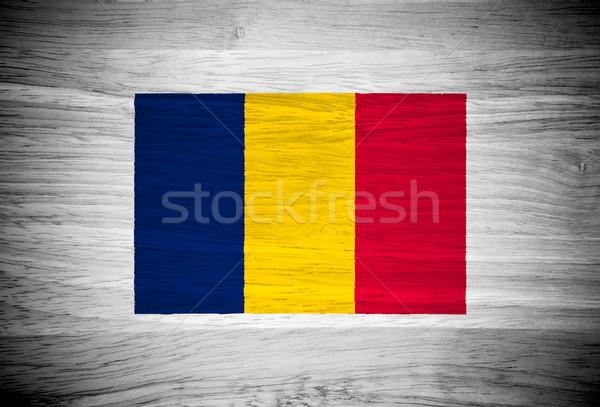 Chad bandera textura de madera pared naturaleza marco Foto stock © pinkblue