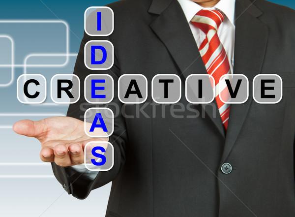 Foto stock: Empresário · mão · desenho · idéias · criador · negócio