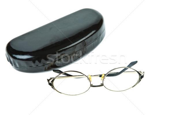 Eye-glasses with box isolated on white background Stock photo © pinkblue