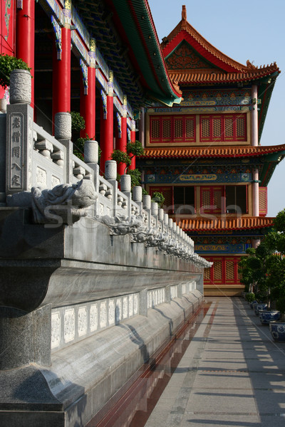 Corridor in Chinese Temple Stock photo © pinkblue