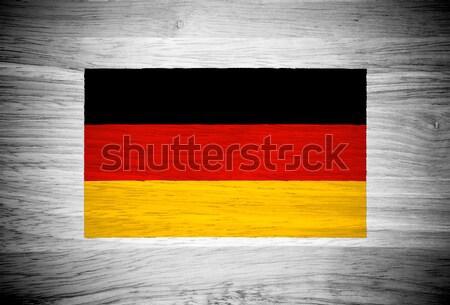 Niemcy banderą struktura drewna tekstury ściany charakter Zdjęcia stock © pinkblue