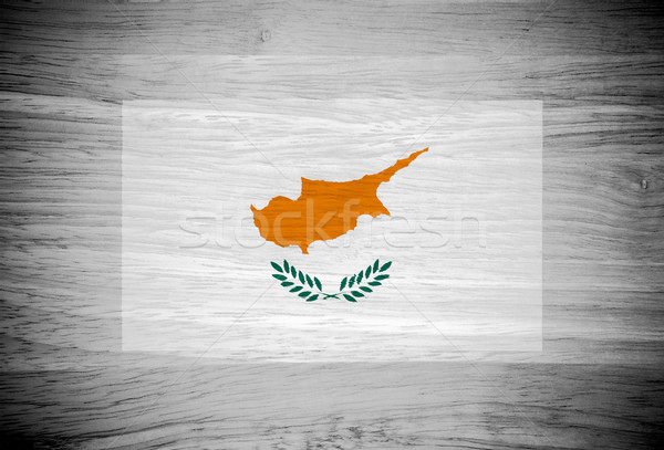 Cypr banderą struktura drewna ściany charakter liści Zdjęcia stock © pinkblue