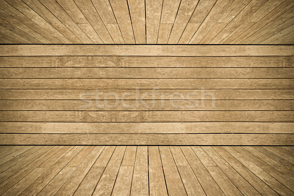 Grunge old wood texture room background Stock photo © pinkblue