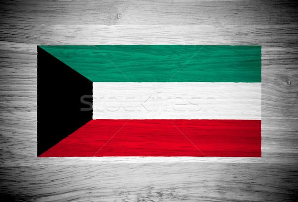 Kuwait bandiera wood texture muro natura frame Foto d'archivio © pinkblue