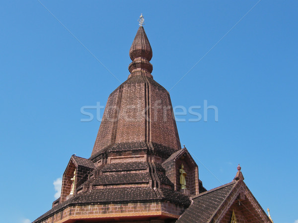 Pagoda in a temple in Thailand Stock photo © pinkblue