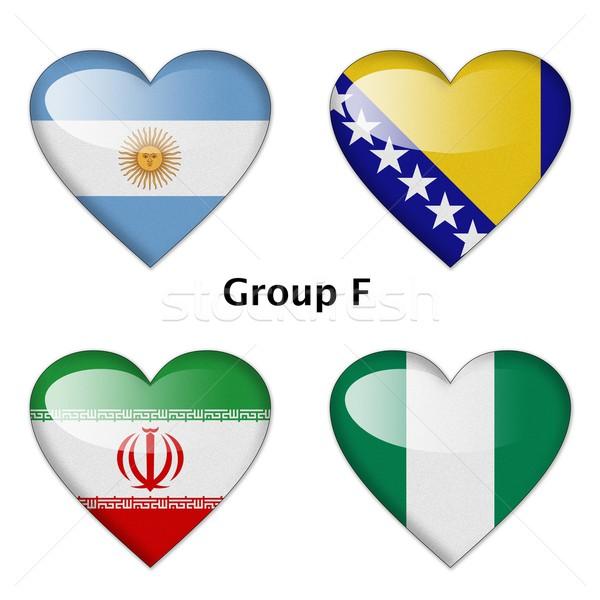 Grupo Argentina Irã Nigéria final amor Foto stock © pinkblue