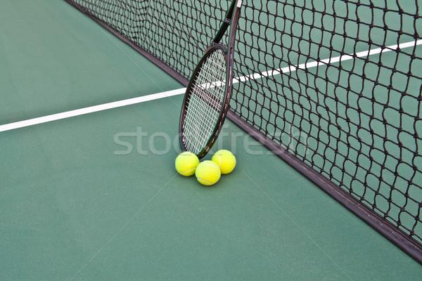 теннисный корт ракетка чистой здоровья фон Сток-фото © pinkblue