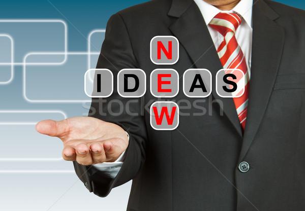 Businessman hand drawing New Ideas Stock photo © pinkblue