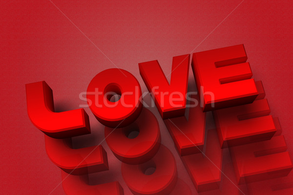 Wording love 3D Stock photo © pinkblue