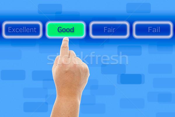 El iyi düğme mutlu kutu Stok fotoğraf © pinkblue