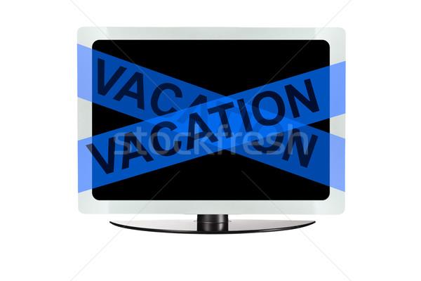 Számítógép kék vakáció szalag asztal képernyő Stock fotó © pinkblue