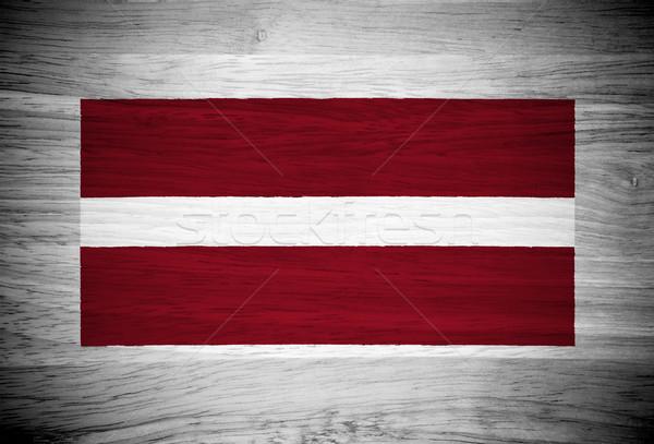 Lettország zászló fa textúra fal természet háttér Stock fotó © pinkblue