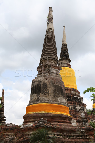Old pagoda and temple in Thailand Stock photo © pinkblue