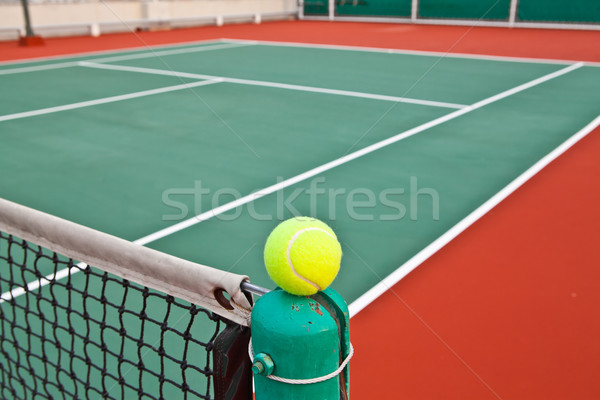 Tennis court with ball Stock photo © pinkblue