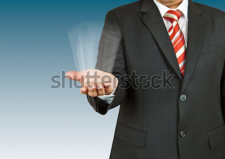 businessman with empty hand on white background Stock photo © pinkblue