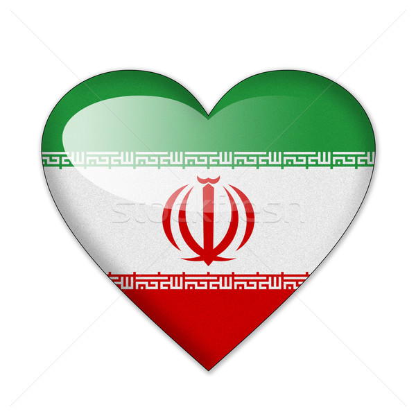Iran flag in heart shape isolated on white background Stock photo © pinkblue