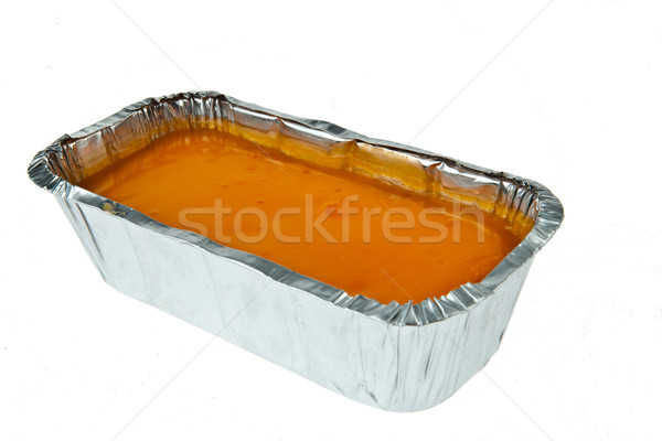 Butter cake topping with jelly orange Stock photo © pinkblue