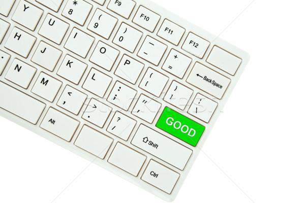 Stockfoto: Goede · geïsoleerd · witte · business · computer