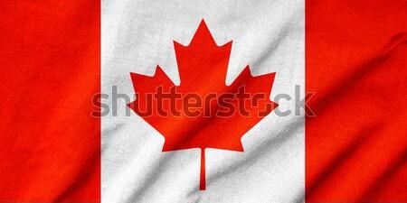 Ruffled Canada Flag Stock photo © pinkblue