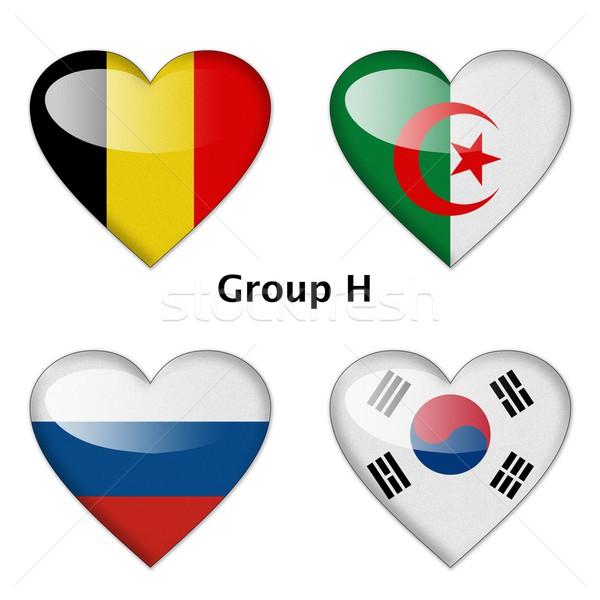 Groep België Algerije Rusland Zuid-Korea finale Stockfoto © pinkblue